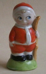 Cute Toddler with Skis - Figural Salt Shaker
