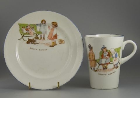Paragon Dolly's School plate Dolly's Doctor Mug - T. Poole- Sold