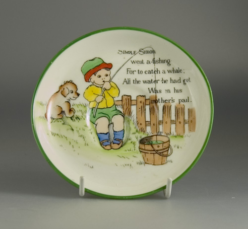 Paragon Mother Goose Series Saucer by Chloe Preston - (Sold)