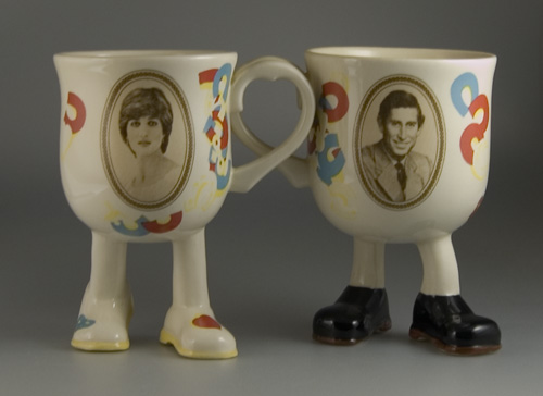 Commemorative Charles & Diana Portrait Cups - (Sold)