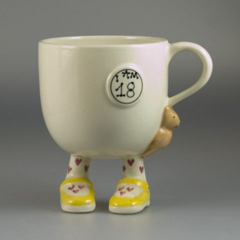 "Carlton Ware Walking Ware ""I am 18"" Cup (Sold)"