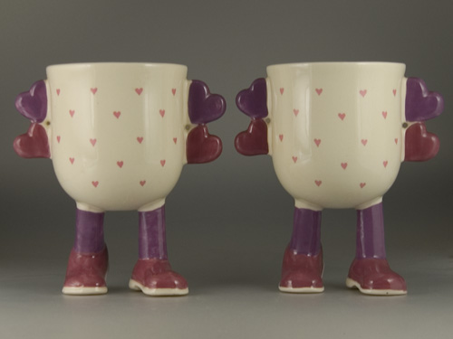 A pair of Carlton Ware Walking Ware Valentine Cups - (Sold)