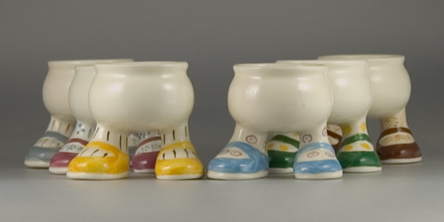 Set of six Carlton Ware Walking Ware Egg Cups - (Sold)