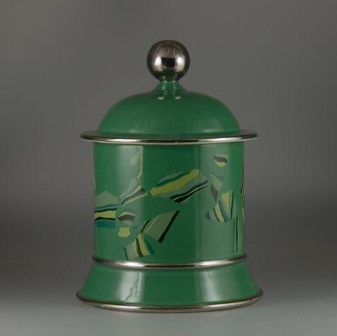 carlton ware lustre pottery biscuit barrel sold 253. Black Bedroom Furniture Sets. Home Design Ideas