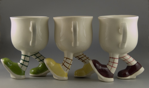 "3 x Carlton Ware Walking Ware ""Running"" Cups"