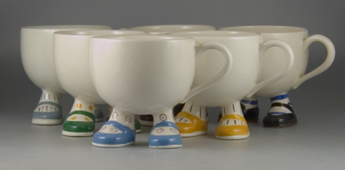 Set of six Carlton Ware Walking Ware Cups - (Sold)
