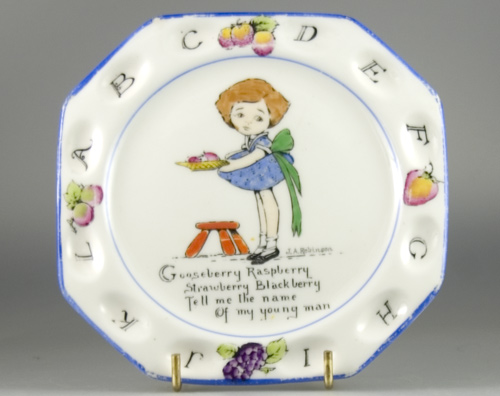 Paragon Future Telling Series Tea plate by J. A. Robinson (Sold)