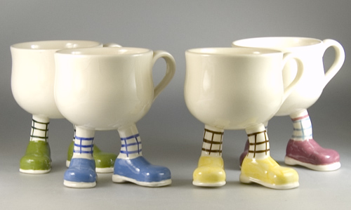 4 Carlton Ware Walking Ware Long Legged Cups - (Sold)
