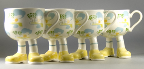 Set of 4 Carlton Ware Walking Ware Caribbean Cups -Sold