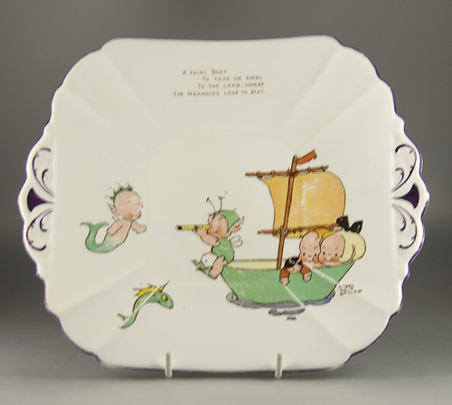 Shelley China Cake / Sandwich Plate - Mabel Lucie Attwell - Sold