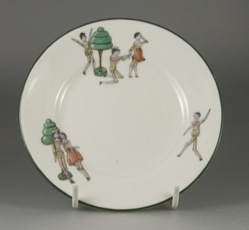 "Paragon China ""Two Dutch Dolls"" child's teaplate - (Sold)"