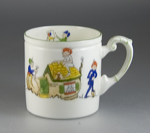 Paragon China Porcelain Child's Mug by J. A. Robinson