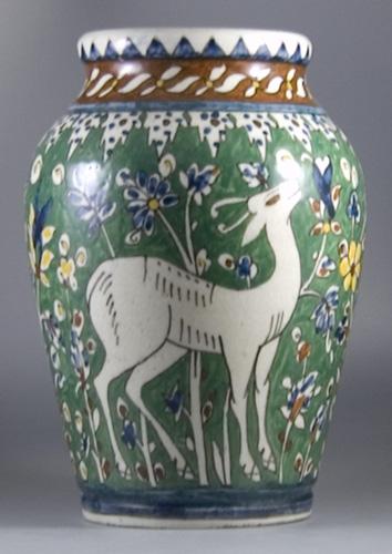 1930s Karakashian Balian Vase Jerusalem Pottery Sold