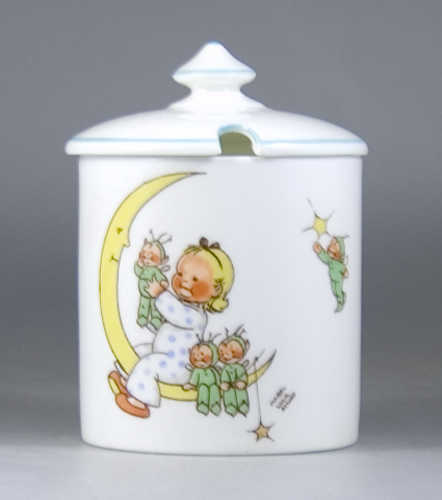 A Shelley conserve pot and lid by Mabel Lucie Attwell - Sold