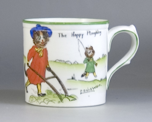 Paragon Tinker Tailor Series Mug by Louis Wain circa 1920 (Sold)