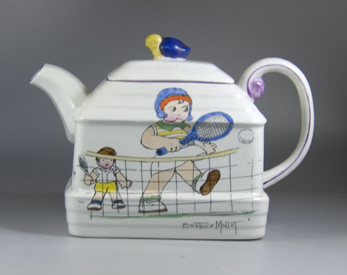 1920s Paragon China Beatrice Mallet Series Teapot