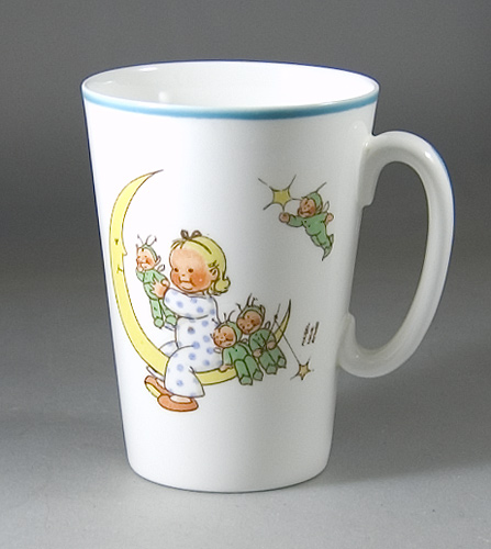 Shelley China Tall Beaker shaped Mug by Mabel Lucie Attwell