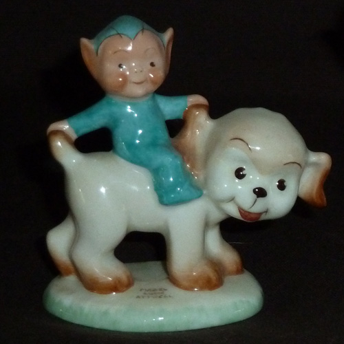 1940s/50s Shelley Boo Boo Seated on a Dog by Mabel Lucie Atwell