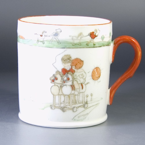 1920's Childrens Mug 1st series by Hilda Cowham for Shelley