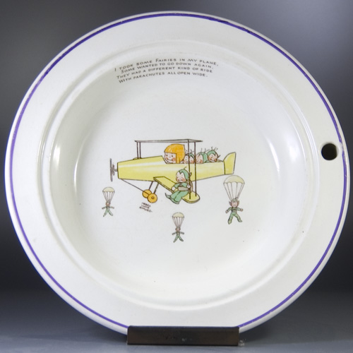 1920s/1930s Food Warming Baby's Bowl- Mabel Lucie Attwell (Sold)