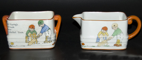 1920s Paragon Beatrice Mallet milk jug and sugar basin