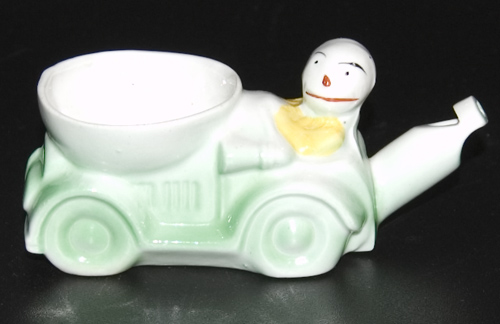 1920s Scarce Whistle Egg Cup Modelled as a Racing Car