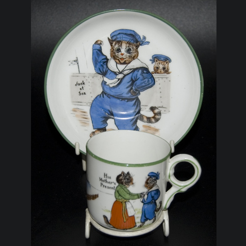 Paragon Tinker Tailor Series Cup & Saucer by Louis Wain