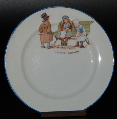"Paragon ""Dolly's Doctor"" teaplate designed by Thomas Poole"