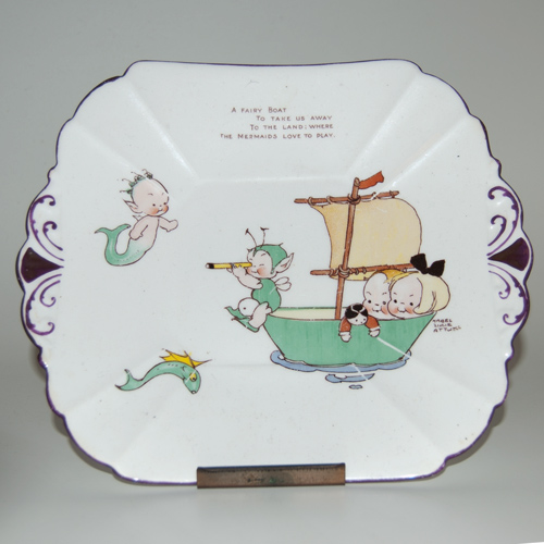 Shelley China Cake / Sandwich Plate - Mabel Lucie Attwell (Sold)