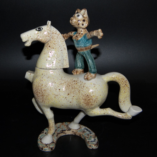 Cat on Horse Ltd. Ed. 9/100 Teapot by Roger Michell