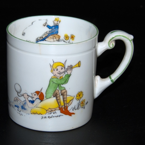 "Paragon China Porcelain ""Pixie Playtime"" mug by J. A. Robinson"
