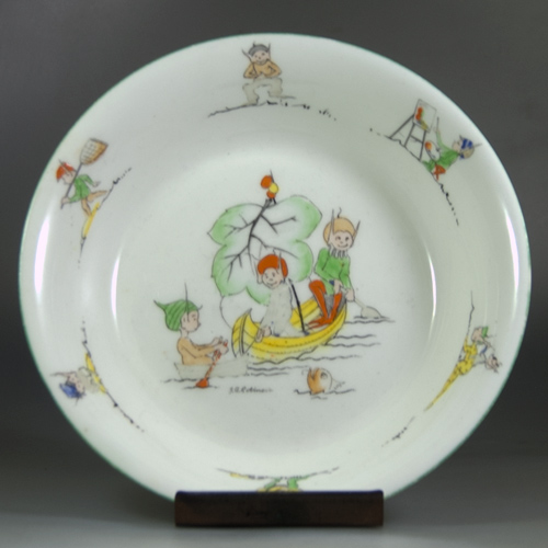 "Paragon China ""Pixie Playtime"" bowl by J. A. Robinson"
