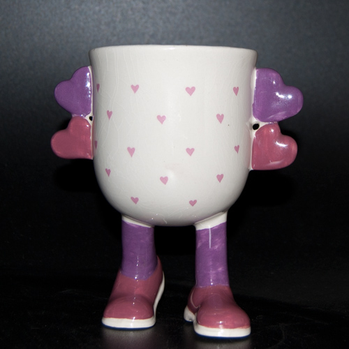 Carlton Ware Lustre Pottery Walking Ware Valentine Cup