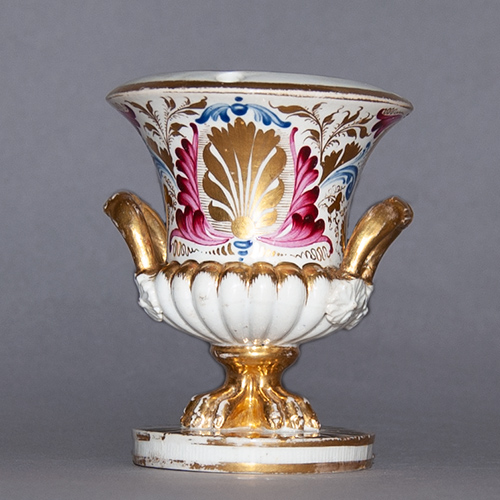 Early 19th Century Handpainted Derby Inkwell