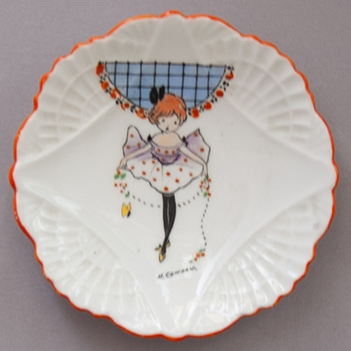Rare Shelley Trinket Dish designed by Hilda Cowham