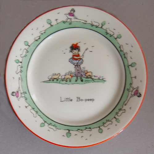 1920s Little Bo Peep tea plate by Hilda Cowham for Shelley