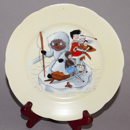 Tea Plate illustrated from 'The Golliwogg's Polar Adventures'