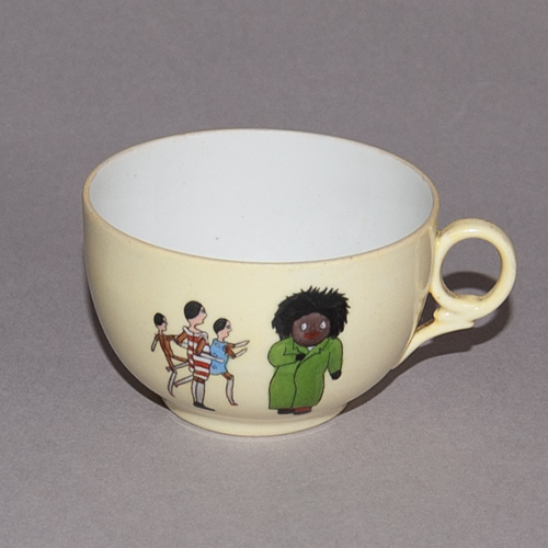 Cup with an illustration from 'The Golliwogg's Auto-go-cart'